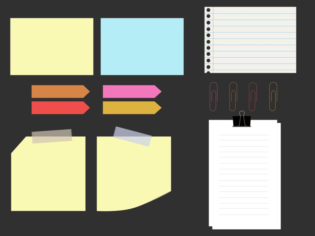 W przypadku notesów z okładką warto wybrać dodatkowe zabezpieczenie w postaci folii mat, błysk lub lakieru wybiórczego UV. Notesy bez okładki podobnie jak papier firmowy mogą być zaopatrzone w dziurki do segregatorów. We wszystkich rodzajach notesów możemy wybrać opcję dla narożników: proste lub zaokrąglone. Najczęściej dane kontaktowe firmy, logo umieszczane są w górnej lub dolnej stopce, znak firmowy w jednym z rogów lub na środku kartki, a środek możemy zagospodarować kratką, linią, kropkami lub pozostawić czysty.